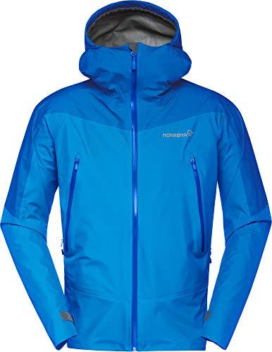 Norrona M Falketind Gore-Tex Jacket Blau, Herren Gore-Tex Regenjacke, Größe L - Farbe Campanula