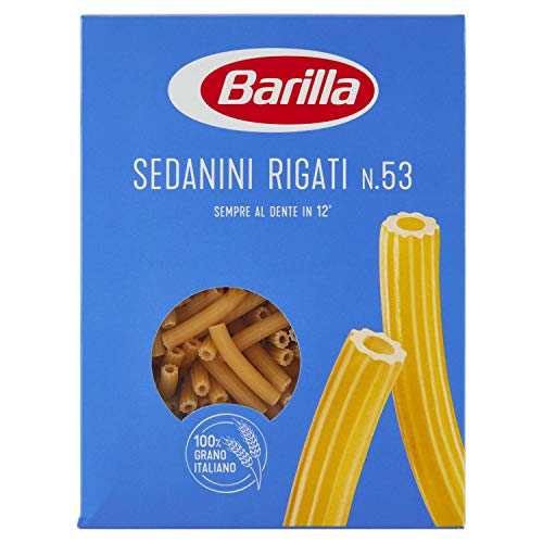 Barilla - Sedanini Rigati, Pasta Di Semola Di Grano Duro, Cottura 12 Minuti - 6 pezzi da 500 g [3 kg]