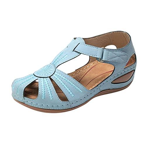 JFFFFWI Sandalias para Mujeres Elegantes, Moda cómoda Sandalia de Plataforma Zapatos Casuales Verano Playa Viaje Chanclas