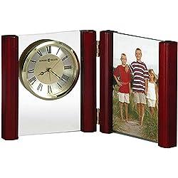 Howard Miller Alex Portrait Table Clock 645-618 – Picture Frame & Timepiece with Quartz, Alarm Movement