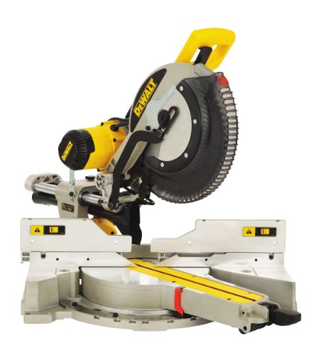DEWALT DWS780-GB Compound Slide Mitre Saw with XPS, 240 V, Black/Yellow, 305 mm