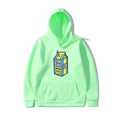 HOUADDY Lyrical Lemonade Rapper Saft Hoodies Hip Hop Sweatshirts Streetwear Für Männer Frauen,Light Green,XL