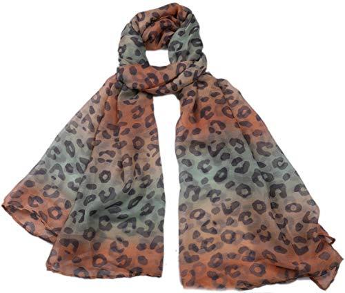 Dielay Dames Sjaal met Dierenprint Panterprint 180x90cm Regenboog