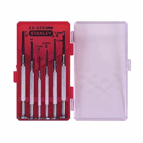 STANLEY 1-66-039 - Juego de destornilladores de precisión, 6 piezas