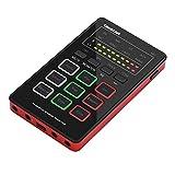Tooart MX1ミニサウンドカードボイスチェンジャーポータブルオーディオミキシングボードBT接続インターフェースと複数の効果音内蔵充電式バッテリーライブ放送用カラオケ録音