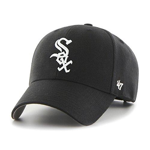 47 Erwachsene Kappe MLB Chicago White Sox Clean Up Baseball Cap, Schwarz (Black), (Herstellergröße: One Size)