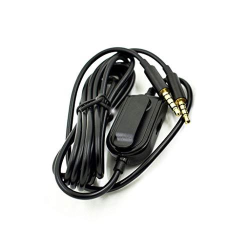 MYBOON Cable de Audio de Auriculares de extensión de Control de Volumen para A10 A40 A30 A50