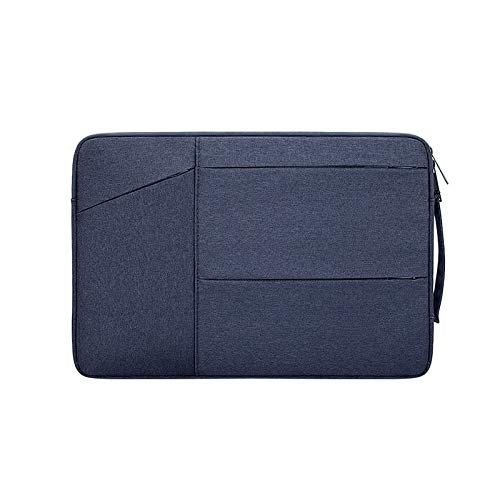 RZL PAD & TAB cases For Macbook Air 13 11 12 15 Pro 13.3 15.4, Retina Case Sleeve 14 15.6 inch Notebook Bag Pouch for iPad Tablet Lenovo (Color : Dark blue, Size : 15.4 inch)