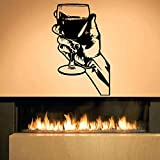 keletop Whisky Tequila Amovible Stickers Muraux pour Cuisine Murale Salle Bar Alcool...