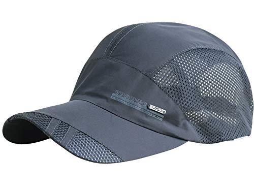 AIEOE Atmungsaktive Kappe Outdoor Kappe Leicht und Schnelltrocknend Basecap Baseball Cap - Dunkelgrau