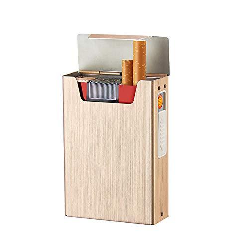 Sigarettenkoffer XYDBB sigarettendoosje aansteker voor het roken van aluminiumlegering USB-aansteker winddichte elektronische gadgets