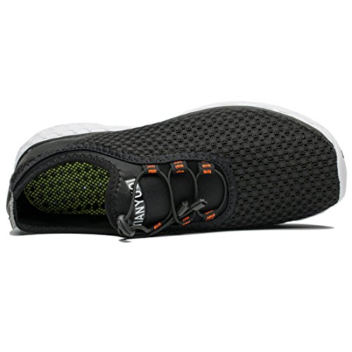 Tianyuqi Men's Mesh Slip On Water Shoes, 43 M EU / 9.5 D(M) US, Black
