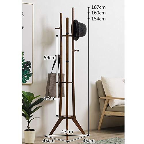 Home Equipment Garderobenständer Holz Baum Garderobe Freistehende Garderobe Ständer mit Haken und Regalen Flur Kleiderbügel Hutständer für Handtasche Kleidung Zubehör für Schlafzimmer Flur Home Off