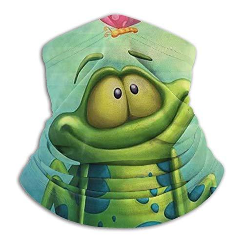 OUY Rana reloj mariposa transpirable cuello guardia pierna guardia máscara facial bufanda turbante pasamontañas sombrero bufanda hombres y mujeres máscara facial