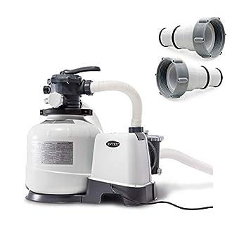 Intex 2800 GPH Above Ground Pool Sand Filter Pump w/Threaded Hose Adapter  Pair