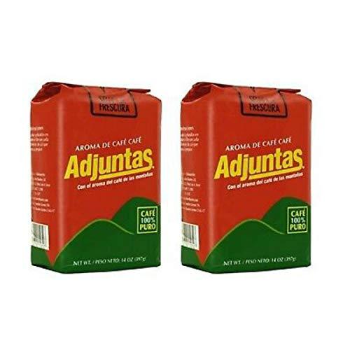 Cafe Adjuntas - Dark Roast Puerto Rican Ground Coffee - 2 pack