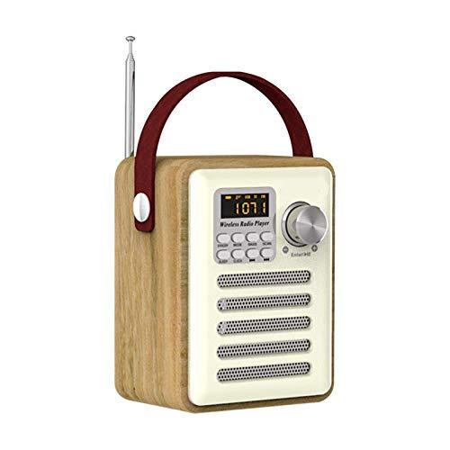 Altavoz Bluetooth MP3 con el Receptor de FM portátil Recargable USB Mini Antena de Radio de Tarjetas TF Exterior Retro Reloj Digital Home