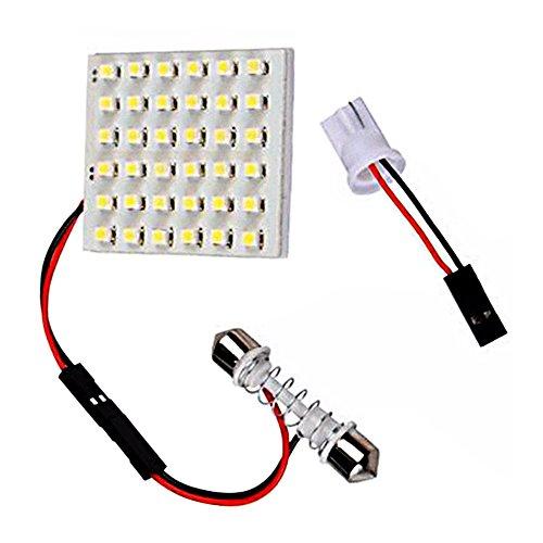 Leepesx 36 3528 36 Panel LED Lámpara de mapa de lectura de coche blanco Auto Dome Lámpara de techo interior de luz con adaptador T10