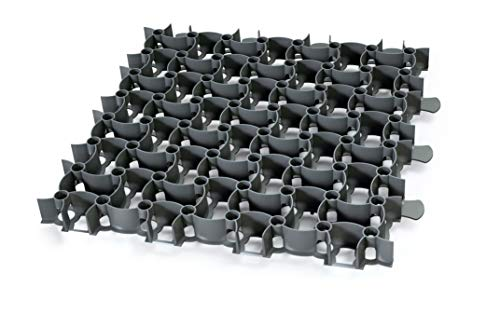 GARDENIX 4 Stück/1m² Puzzle Paddockplatten Paddockplatte Rasengitter (50 x 50 x 4 cm/Stück) (Schwarz)