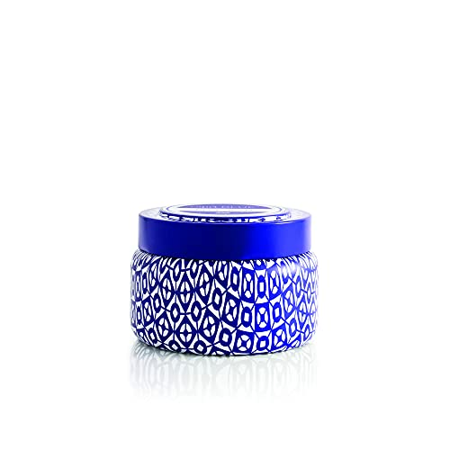 Capri Blue Scented Candle with Tin Candle Holder - Cotton Wick - Luxury Aromatherapy Candle - 8.5 Oz - Volcano