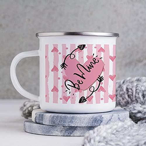 10oz emaille mok, grappige koffiemok, BE mijne, nieuwigheid koffiemok, koffiebeker, mok beker, voor Valentijnsdag/verjaardag