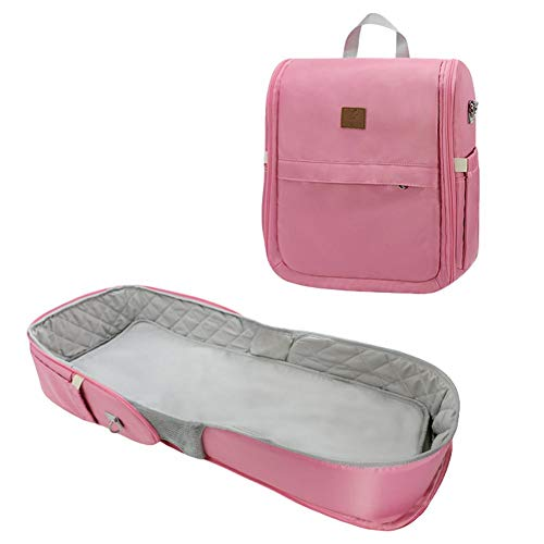 Terynbat - Cama plegable para bebé, bolsa de momia, cama plegable de gran capacidad, mochila multifuncional, para salir, para madre e hijo, bolsa de hombro
