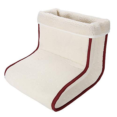Huairdum Massage Fußwärmer, Elektrische Ultraweicher Fußwärmer Abnehmbare Füße Heizstiefel Schuhe Fußstiefel Hausschuhe Massagegerät Heizkissen(110V-220V EU Plug-#2)