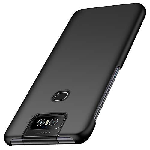 Anccer Kompatibel mit Asus Zenfone 6 ZS630KL Hülle, Zenfone 6Z Hülle [Serie Matte] Elastische Schockabsorption & Ultra Thin Design für Zenfone 6/6Z ZS630KL (Glattes Schwarzes)