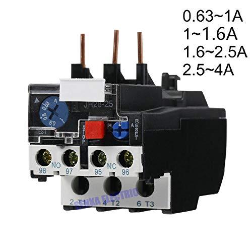 3P JR28-25 LR2 D13 Elektrisch thermisch overbelastingsrelais 1A 1.6A 2.5A 4A 1NO 1NC-4A