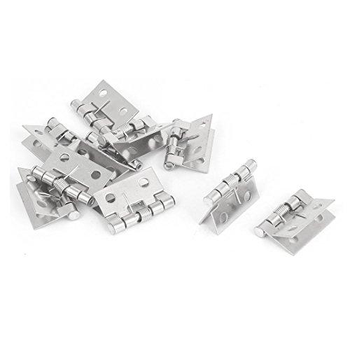 sourcingmap® 10Stk Kabinett Schrank Türfeder Scharnier Silber 26 x 30 mm DE de