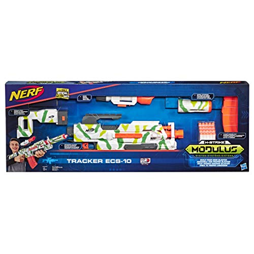 Hasbro Nerf E7942EU4 Modulus Tracker ECS-10, motorisierter Blaster mit Tarnmuster, Multicolor
