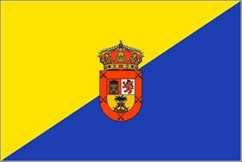 U24 stickers Gran Canaria vlag vlag vlag 30 x 20 cm autosticker sticker