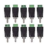 Bestga 10 conectores RCA macho, conector RCA macho a conector AV de audio y vídeo para sistema de cámara de seguridad CCTV