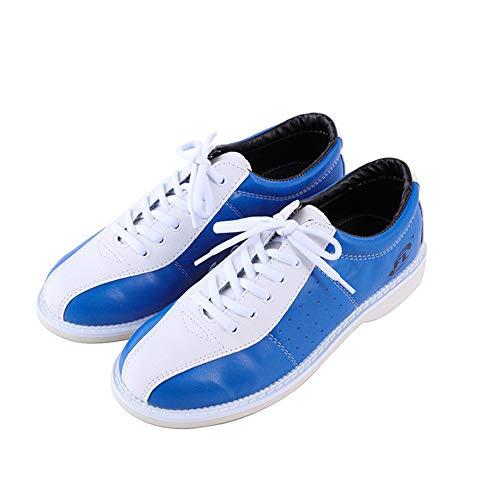 FJJLOVE Zapatos De Bolos para Mujer, Zapatillas De Deporte De Tazón Livianas De Zapatillas Antideslizantes. Zapatillas Deportivas para Mujer,Azul,36