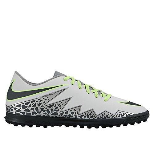 Nike Hypervenom Phade II TF, Botas de fútbol Hombre, Plateado (Plateado (Pure Platinum/Black-Ghost Green), 39
