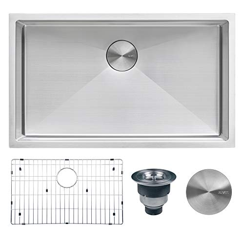 Ruvati 33-inch Undermount 16 Gauge Tight Radius Large Kitchen Sink Stainless Steel Single Bowl -...