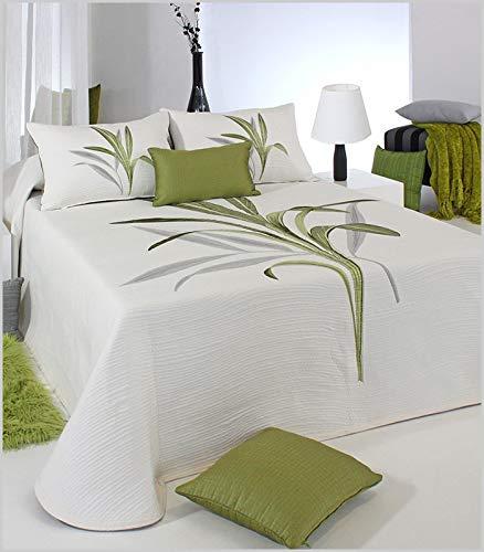 Reig Martí - Colcha bouti Reversible Linet - Verde, Cama de 150 cm