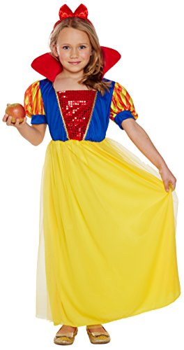Pams Girls Snow White Princess Fancy Dress Costume Small 4 5 6 Yrs