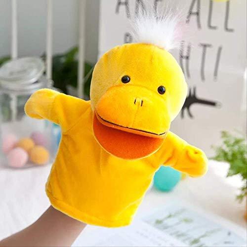 BLTR Suave Pato Encantador marioneta de Peluche, Pato Amarillo nios se disfrazan de nios de Juguete de Felpa apoyos de la mueca Preciosa Regalo Natural