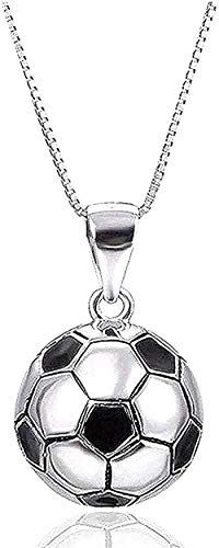 Yiffshunl Necklace Soccer Ball Necklace Silver Color Pendant Necklace for Women Girls Birthday Jewelry Necklace Gift
