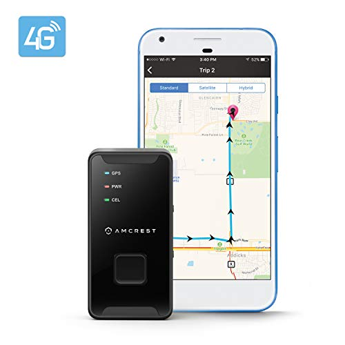 Amcrest 4G LTE Rastreador GPS – Mini dispositivo de Rastreo GPS portátil oculto en tiempo real para…