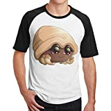 WoodWorths Linda camiseta de manga corta para hombre con diseño de cangrejo ermitaño (talla XL), color negro