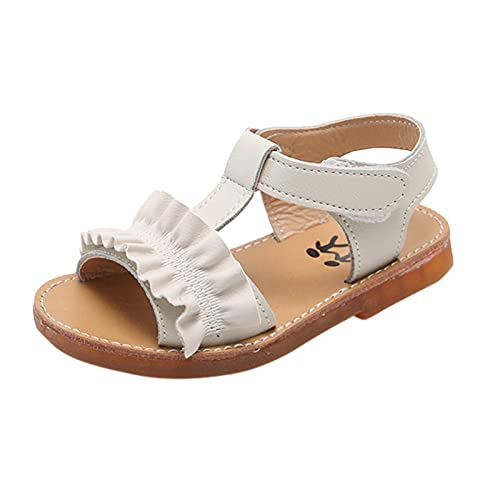 YWLINK Sandalias De NiñOs,Verano NiñAs Sandalias Moda Big Flower Flat Princess Shoes Zapatos De Playa,Fiesta Al Aire Libre La Boda Casuales Bohemia Baile Zapatos Romanos,Zapatos De Playa Con Velcro
