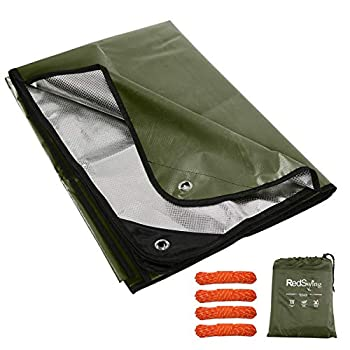 RedSwing Heavy Duty Reflective Survival Space Blanket Multipurpose Emergency Thermal Blanket for All Weather Green