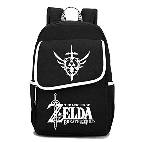 YOYOSHome Luminous Anime The Legend of Zelda Cosplay Büchertasche Collegebag Tagesrucksack Schultasche mehrfarbig 3