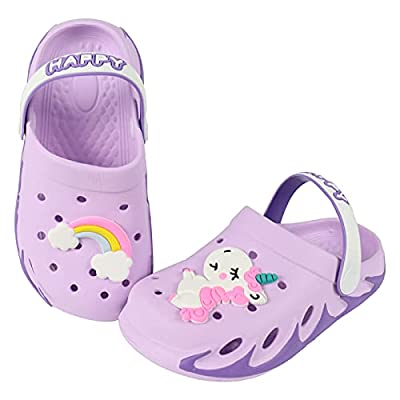 KUBUA Kids Garden Clogs Slip On Water Shoes for...