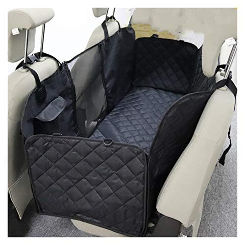 Dog Car Seat Cover View Mesh Waterproof Pet Carrier Car Rear Back Seat Mat Hammock Cushion (Color : Black)