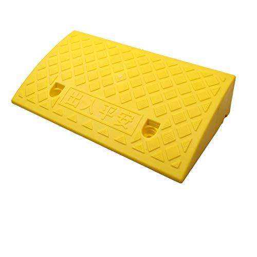 Plastic Curb Slope, Indoor Fiets Oprijplaten Factory Oprijplaten Pier Oprijplaten Slow Kratervultijd Mat Park Oprijplaten/zwart, geel / 50 * 22 * 5 Cm (Color : Yellow, Size : 50 * 22 * 5cm)