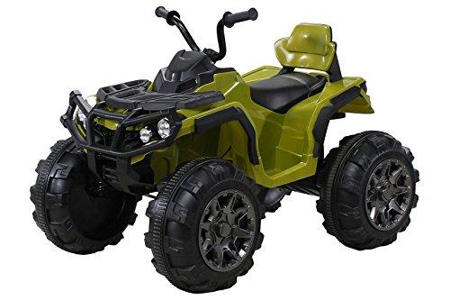 Actionbikes Kinder Elektro Quad Offroad 2 x 35 Watt (Grün)