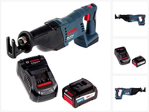 Bosch GSA 18 V-Li - Sierra de sable con batería (18 V, incluye batería Eneracer de 6,3 Ah y cargador)